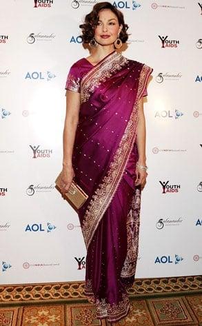 Ashley Judd in Saree